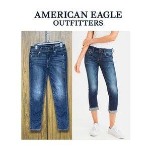 NWT American Eagle Skinny Crop Jeans Vintage Wash